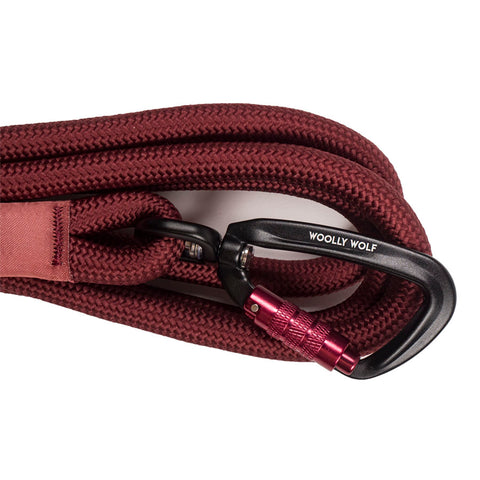 Recycled Rope Leash Burgundy