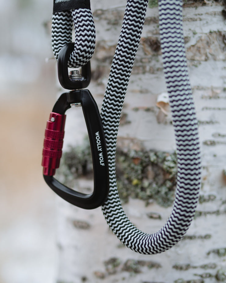 Peaks Rope Leash Black/White