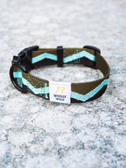 Peaks Dog Collar in Eucalyptys