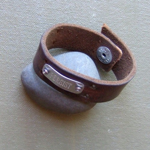 Leather Wristband: