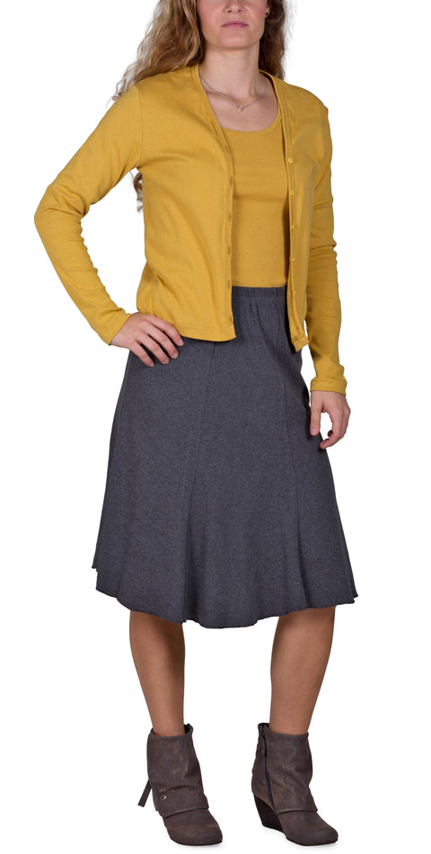 Women's 50/50 Bell Skirt - Charcoal - USA Made