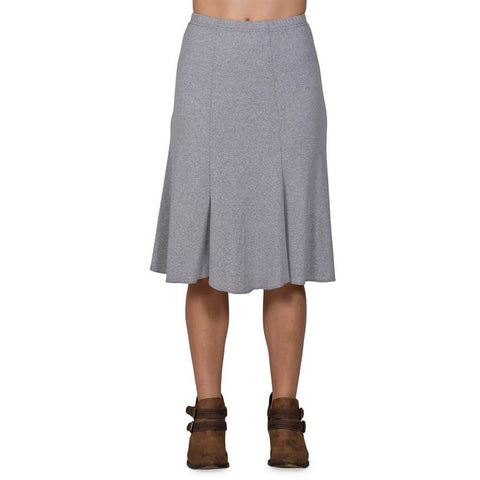 Women's 50/50 Bell Skirt - Heather Grey - USA Made