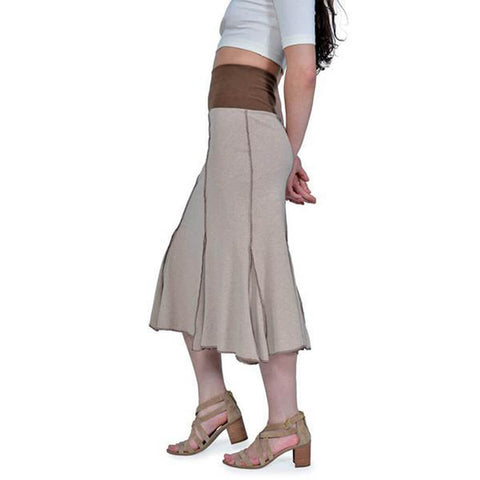 Women's 50/50 Long Seamed Flare Skirt - Linen - USA Made