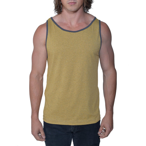 50/50 Jersey Tank | Honey Heather | USA Made - Asheville Apparel