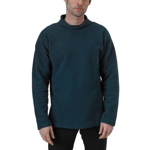 Men's Organic Cotton Terry Weekender Sweatshirt - Reflection Pond - USA Made - Asheville Apparel