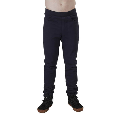 Men's Organic Cotton Jersey Jogger Pants - Black - USA Made - Asheville Apparel