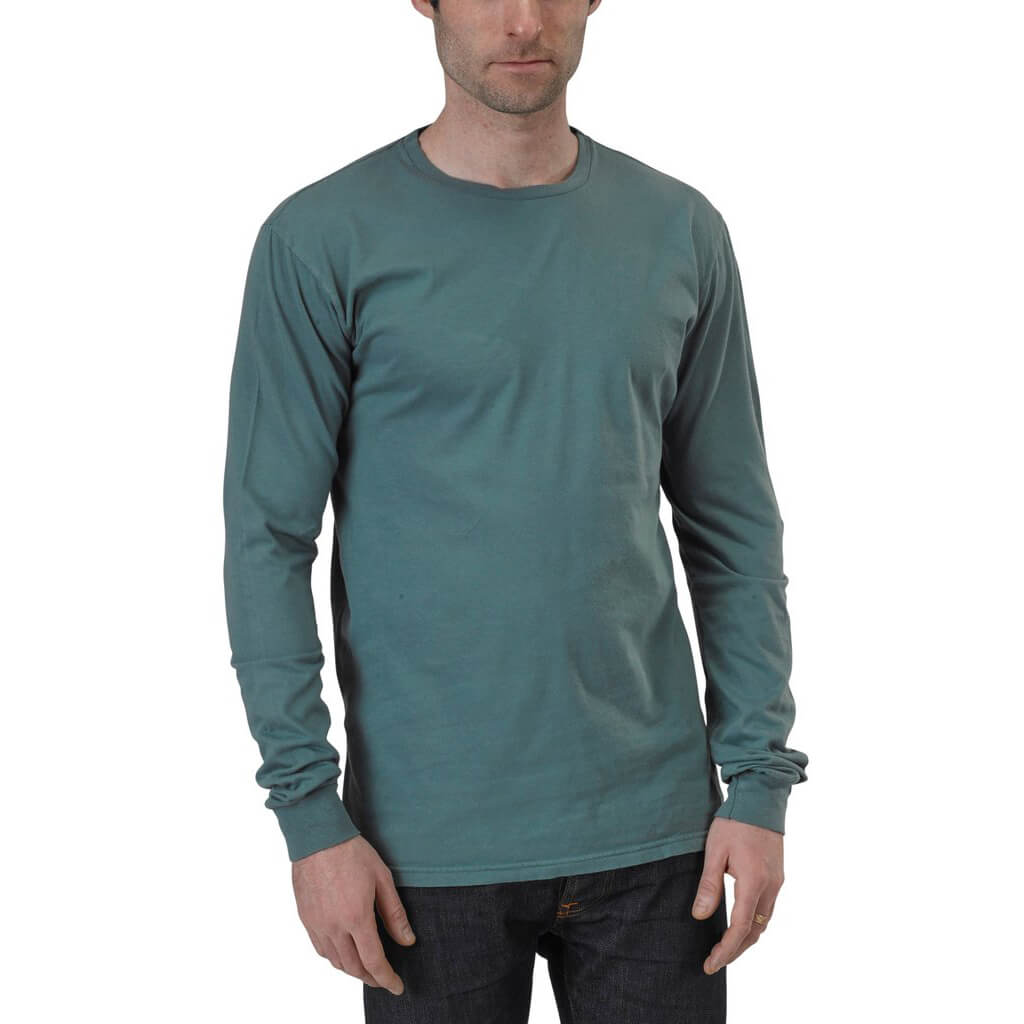 Men's 100% Organic Cotton Long Sleeve Favorite Crewneck Tee - Solidtude - USA Made - Asheville Apparel