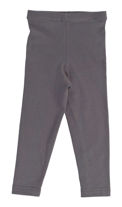 Kid's Organic Cotton Spandex Leggings - Graphite - USA Made - Asheville Apparel