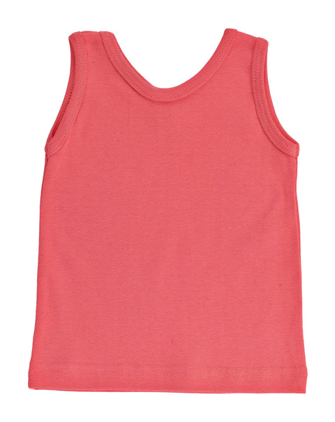 Kid's Organic Cotton Perfect Tank - Tomato - USA Made - Asheville Apparel