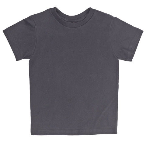 Kid's Organic Cotton Short Sleeve Crewneck Tee - Black - USA Made - Asheville Apparel