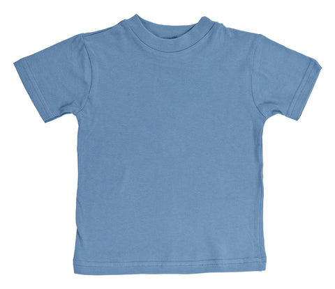 Kid's Organic Cotton Short Sleeve Crewneck Tee - Columbia Blue - USA Made - Asheville Apparel