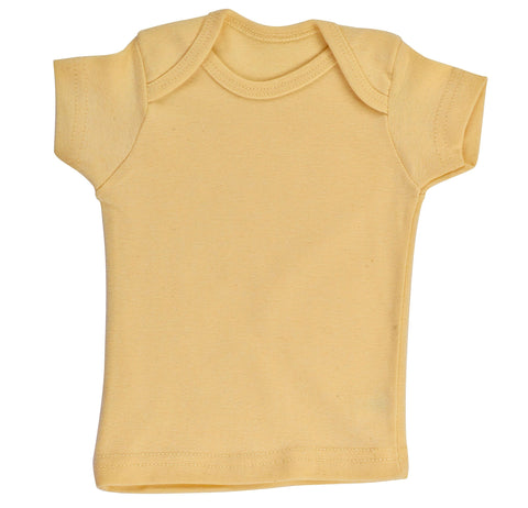Kid's Organic Cotton Short Sleeve Overlap Tee - Buttercup - USA Made - Asheville Apparel