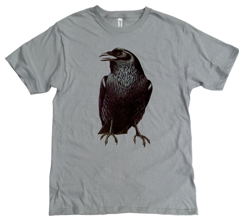 Men's Organic Cotton Classic Crewneck Tee - Raven Graphic - USA Made