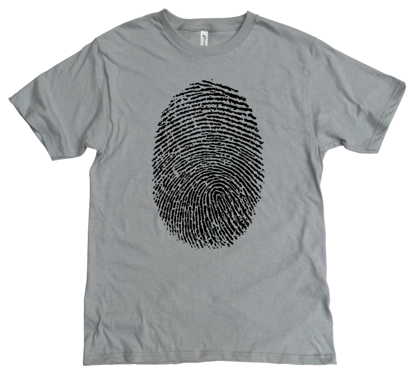 Men's Organic Cotton Classic Crewneck Tee - Thumbprint Graphic - USA Made - Asheville Apparel