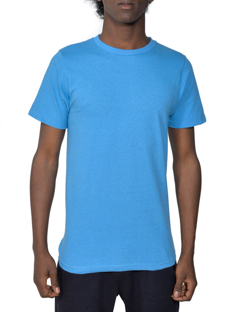 Organic Cotton Short Sleeve Classic Crewneck Tee | Columbia Blue | USA Made - Asheville Apparel