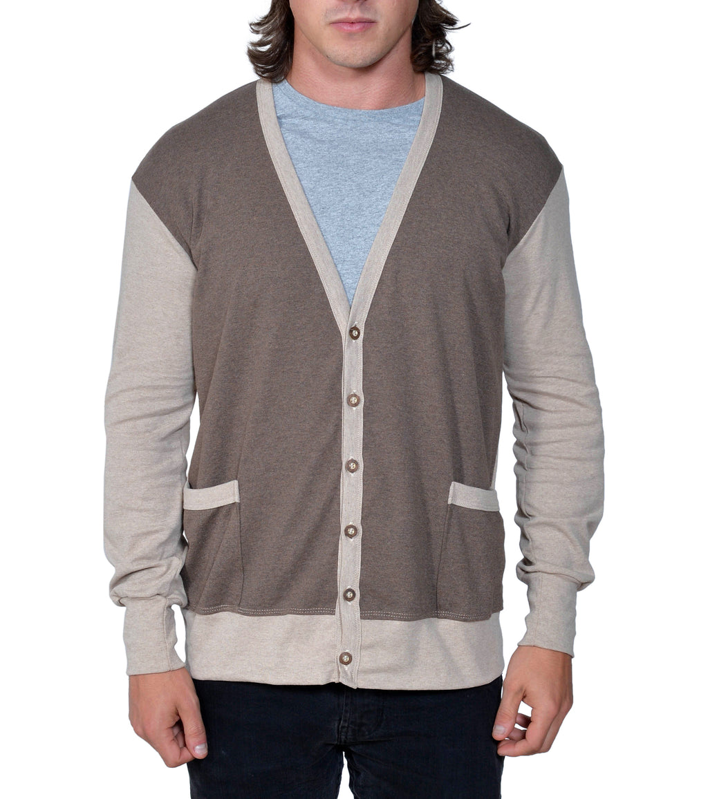 Organic Two Tone Cardigan - Asheville Apparel