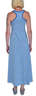 Organic Cotton Racerback Maxi Tank Dress | Heather Blue | USA Made - Asheville Apparel