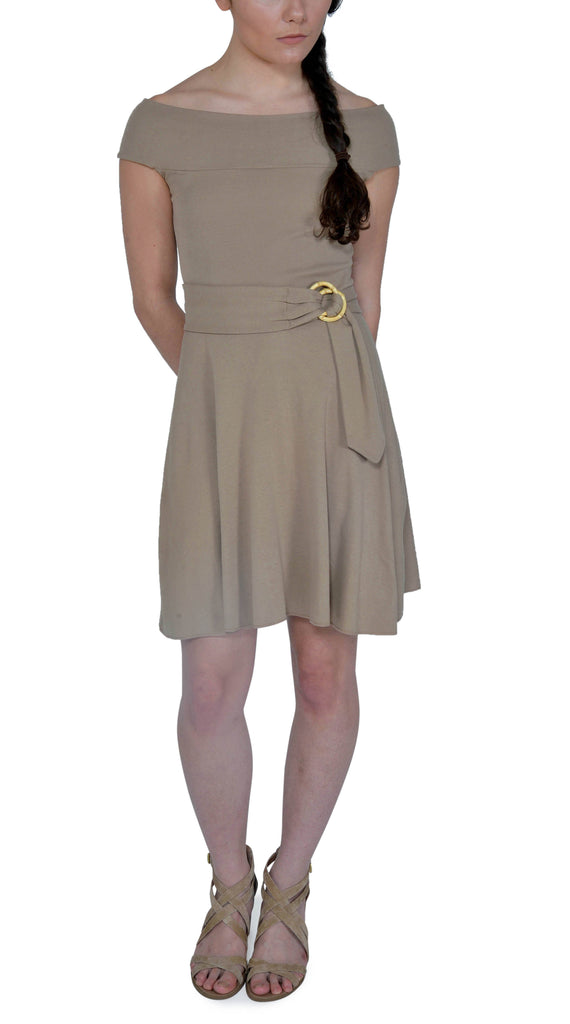 Organic Cotton Venus Dress | Taupe | USA Made - Asheville Apparel