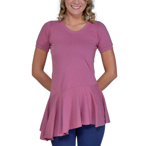 Women's Organic Cotton Ellie Top - Mellow Rose - USA Made - Asheville Apparel