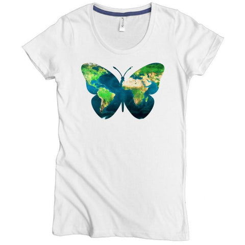 Earth Butterfly Tee - Asheville Apparel