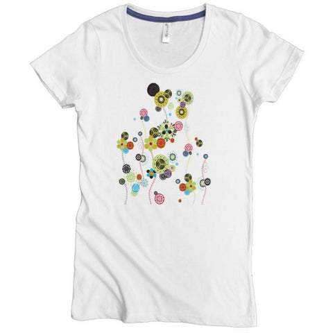 Flowing Flowers Tee - Asheville Apparel