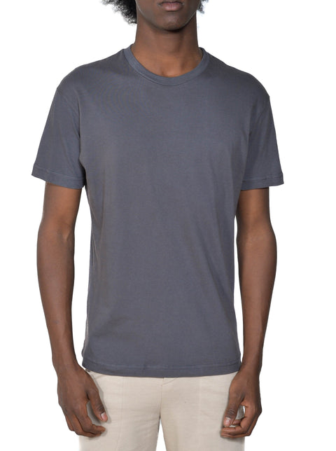 Men's Organic Cotton Short Sleeve Favorite Crewneck Tee - Graphite - USA Made - Asheville Apparel
