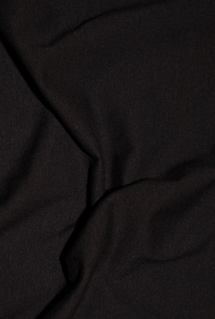 "Sample Swatch | 20790 | Lightweight Cotton Spandex Jersey | Black | 90/10 Organic Cotton/Spandex | 58-60"" Open Width 