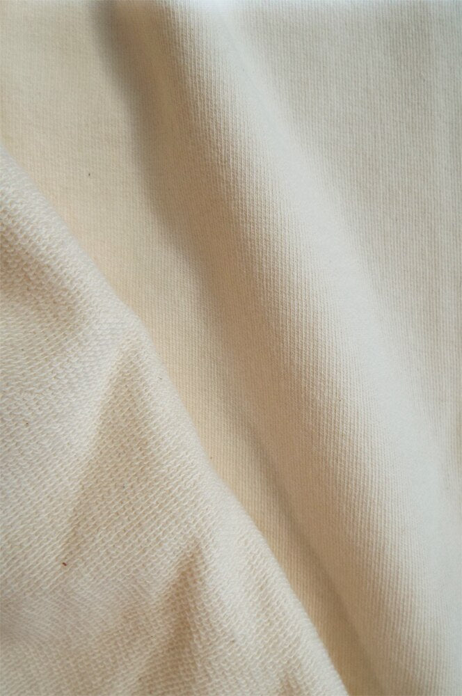 "2054 | Lightweight French Terry |  Natural Undyed | 100% Organic Cotton | 56-58"" Open Width 