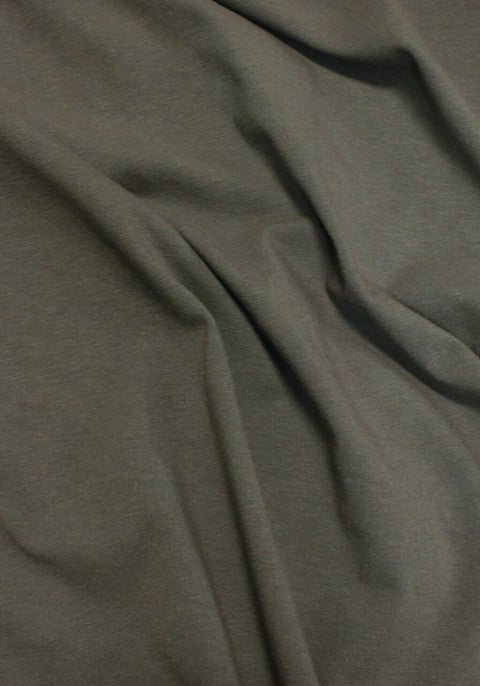 "Sample Swatch | 20874 | Medium Weight Cotton Spandex Jersey | Graphite | 90/10 Organic Cotton/Spandex | 58-60"" Open Width 