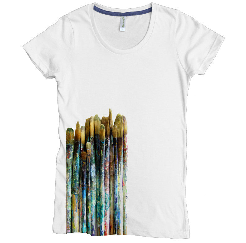 Paintbrushes Tee - Asheville Apparel