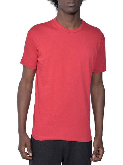 Organic Cotton Short Sleeve Favorite Crewneck Tee | Raspberry | USA Made - Asheville Apparel