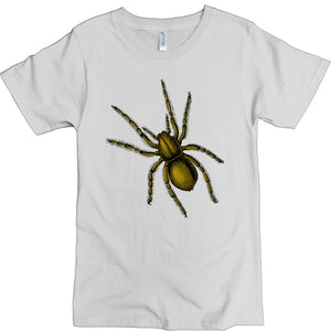 Men's Organic Cotton Classic Crewneck Tee - Spider Graphic - USA Made