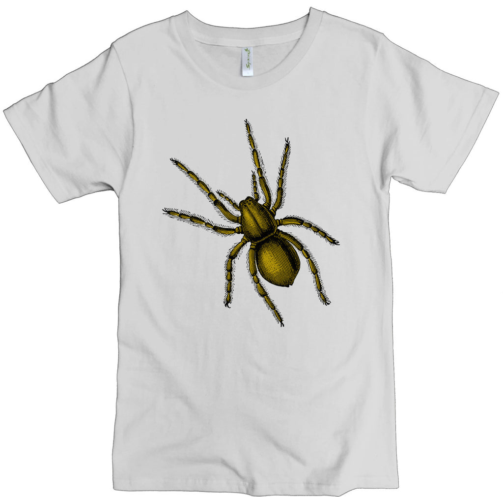 Men's Organic Cotton Classic Crewneck Tee - Spider Graphic - USA Made - Asheville Apparel