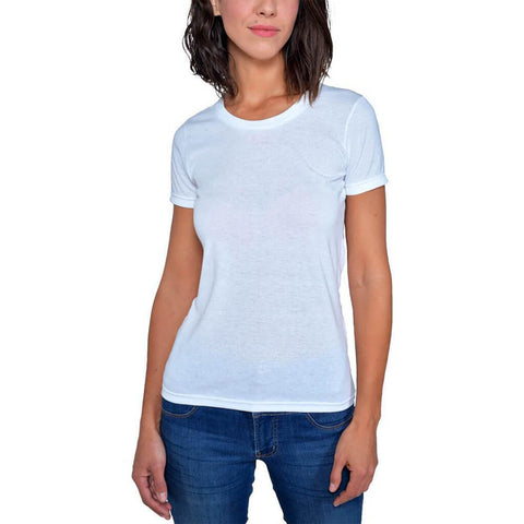 Women's 50/50 Short Sleeve Favorite Crewneck Tee - White - USA Made