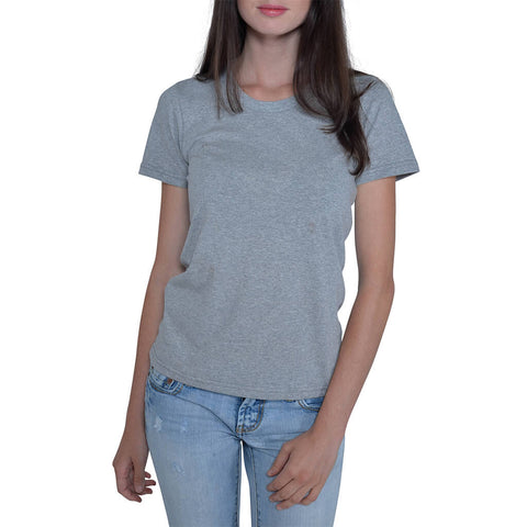 Women's 50/50 Short Sleeve Favorite Crewneck Tee - Heather Grey - USA Made