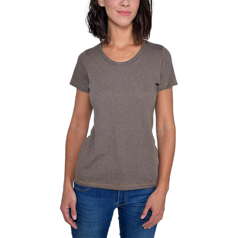 Women's 50/50 Short Sleeve Favorite Crewneck Tee - Terra - USA Made