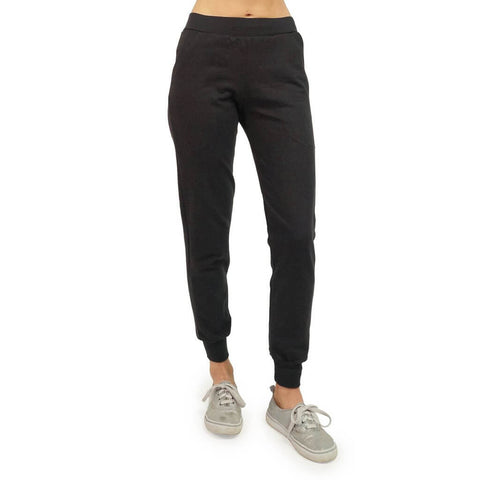 Women's Organic Cotton Lightweight Jogger Pants - Black - USA Made - Asheville Apparel