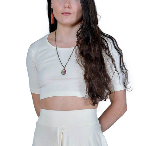 Organic Cotton Coxe Crop Top | Natural | USA Made - Asheville Apparel