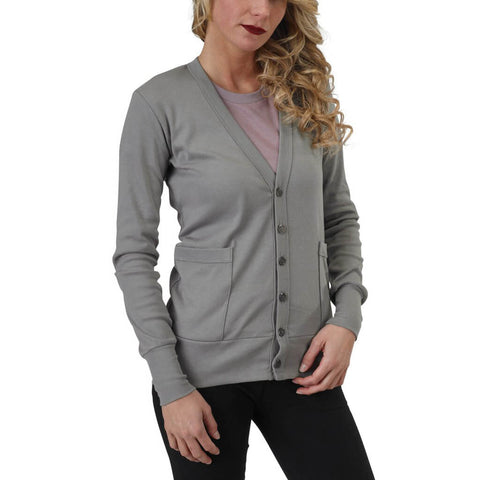 Women's Organic Cotton Craggy Garden Cardigan - Hurricane - USA Made