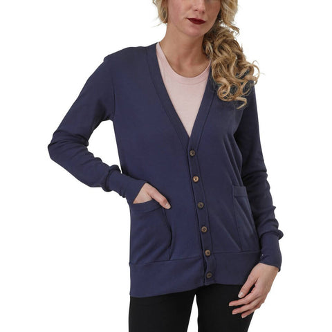 Organic Cotton Craggy Garden Cardigan | Marine | USA Made - Asheville Apparel