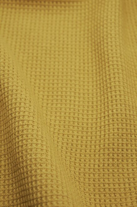 "2080 | Heavyweight Thermal | Honey | 100% Organic Cotton | 58-60"" Open Width 