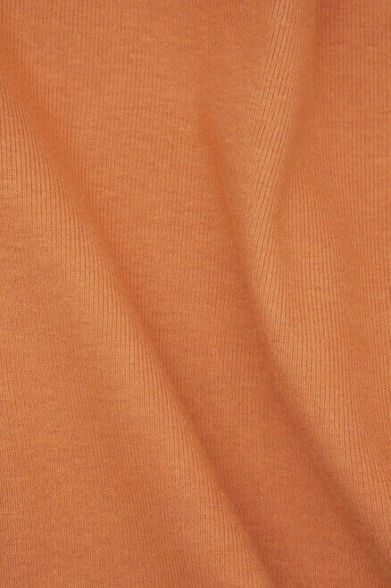 "Sample Swatch | 10114T | Heavyweight 1 x 1 Rib | Hot Sauce | 100% Organic Cotton | 28-30"" Tubular 
