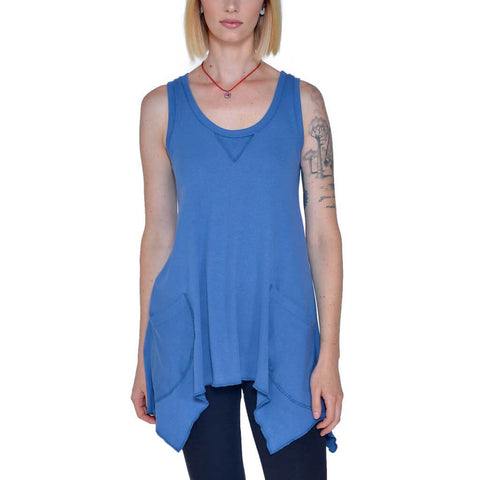 Women's Organic Cotton Jenna Hippie Tank Top - Wave - USA Made