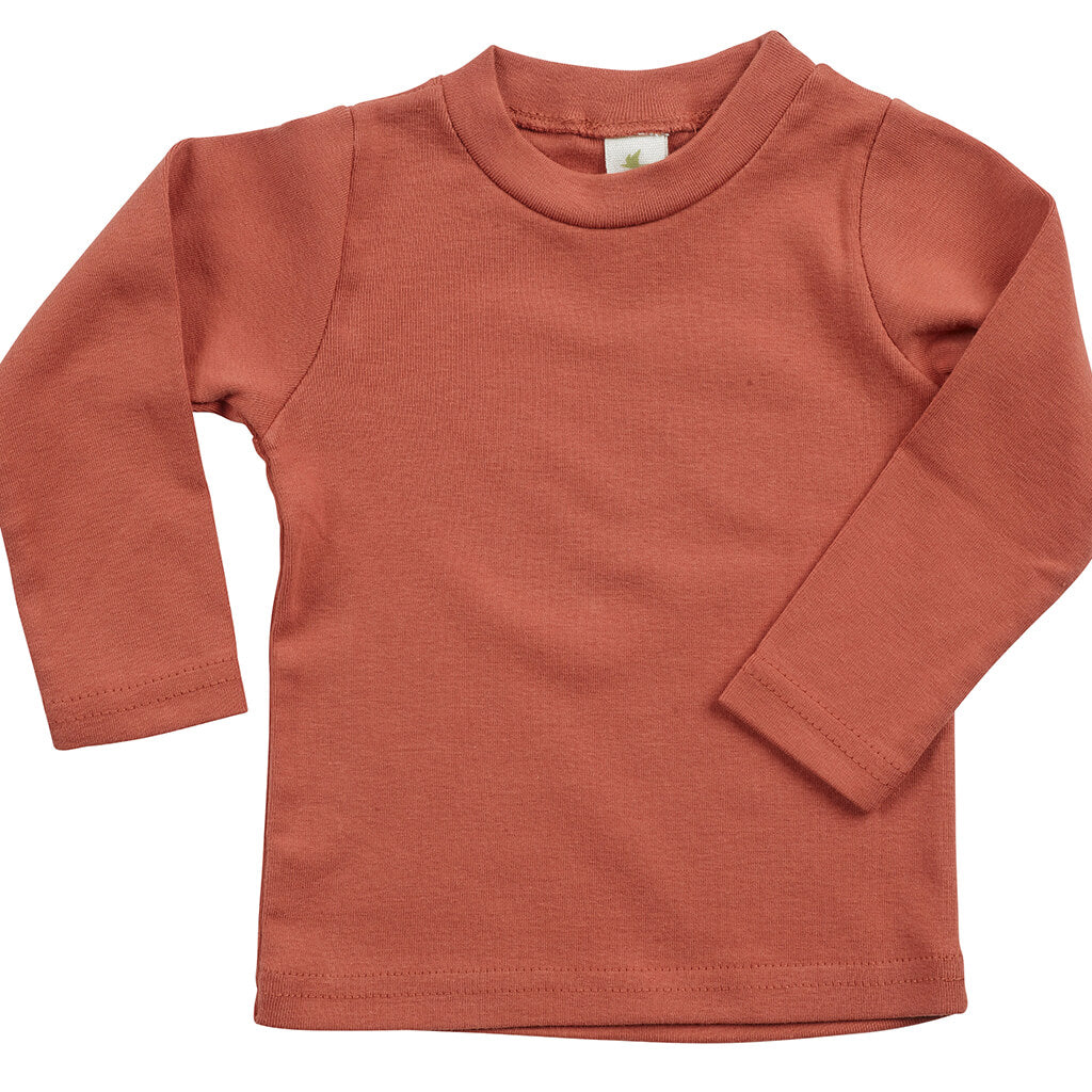 Kid's Organic Cotton Long Sleeve Perfect Crewneck Tee - Hot Sauce - USA Made - Asheville Apparel