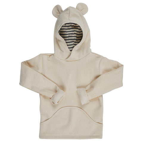 Kids Organic Cotton Fleece Pullover Hoodie - Polar Bear - USA Made - Asheville Apparel