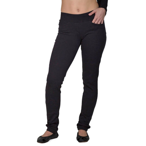 Women's Organic Cotton Saratoga Pants - Black - USA Made