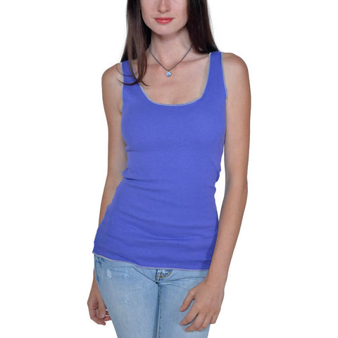 Women's Organic Cotton Layering Tank - Amethyst - USA Made - Asheville Apparel