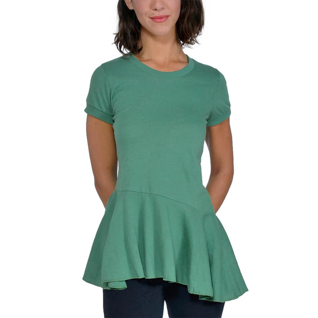 Women's Organic Cotton Ellie Top - Atlas Green - USA Made - Asheville Apparel