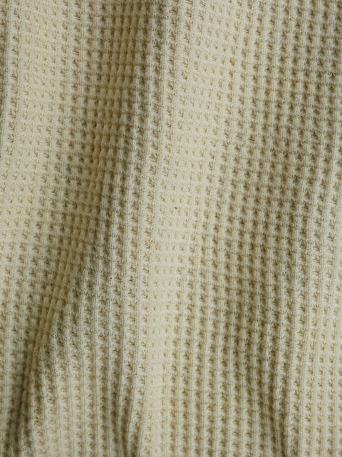 "Sample Swatch | 2080 | Heavyweight Thermal | Natural Undyed | 100% Organic Cotton | 58-60"" Open Width 