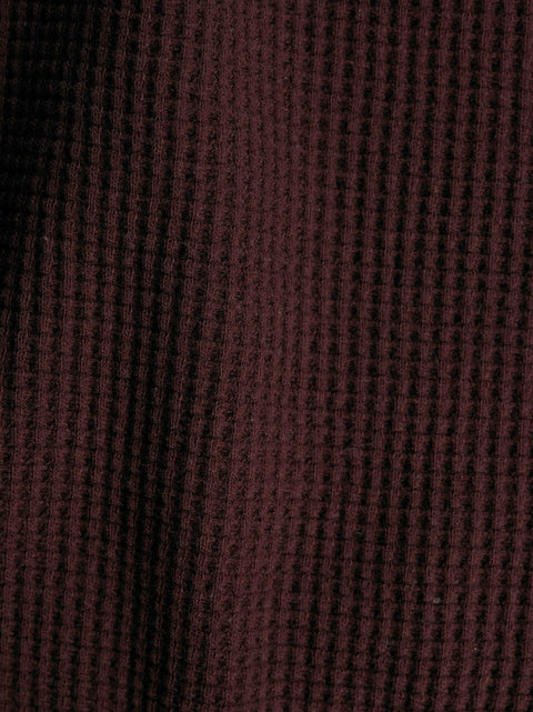 "2080 | Heavyweight Thermal | Oxblood | 100% Organic Cotton | 58-60"" Open Width 